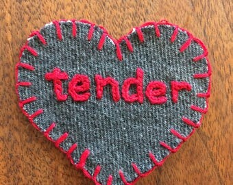Tender Hand Embroidered Sew-On Patch