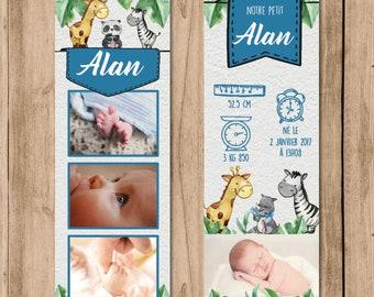 To share birth animal bookmark