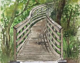 Wooden bridge, walking bridge, Sherwood, OR