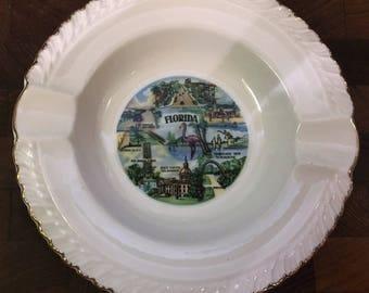 Vintage Ceramic Florida Ashtray