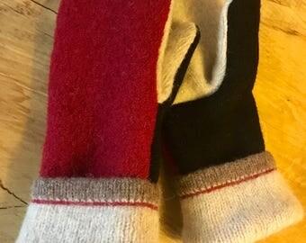 Wool Sweater Mittens (S)