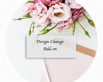 Design change, pre-discussed design change.