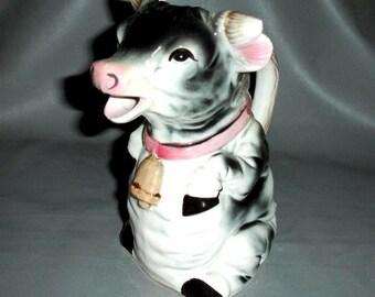 Vintage Cow Milk Pitcher