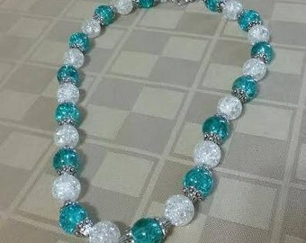 Grand Aqua & Crystal Necklace