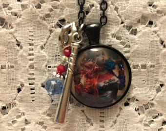 Harley Quinn Charm Necklace/Harley Quinn Jewelry/Villain Necklace/DC Comics/Suicide Squad/Suicide Squad Jewelry/Margot Robbie