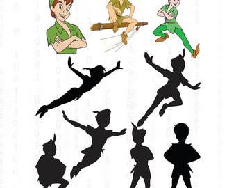Peter Pan svg,png,jpg,eps for Print/Silhouette Cameo/Cricut and Many More