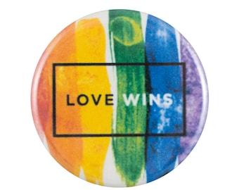 "Love Wins 1.25"" Button Pin"
