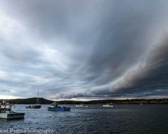 Goose Cove Storm Front,Acadia National Park, Mt. Desert Island,Maine,Storm Front,Dramatic Clouds,Landscape,Goose Cove,Sky