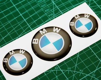 BMW 3d Epoxy Resin Domed Stickers Rims Wheels car