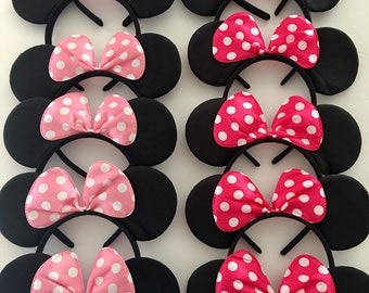 minnie mouse party favors, Minnie Mouse, Minnie Ears Headband, Minnie Birthday Party Favors, Disney Cruise, Disney Vacation, Disney Trip