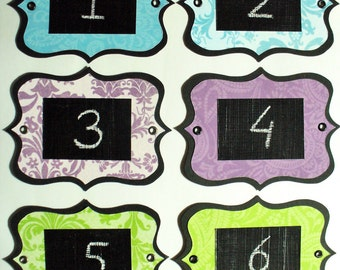 Paisley Chalkboard Labels - multi-use, colourful and re-usable with metal eyelets. Set of 6