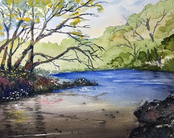 Hidden Pond (Original Watercolor Painting)