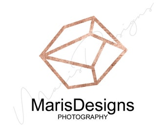 Custom Logo Design Rose Gold, INSTANT DIY Logo | Custom Logo Design, Custom Logo, Customisable Logo, Logo Design, RoseGold, Gold, Rose