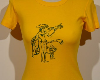 Hand painted Yellow T-Shirt Elves