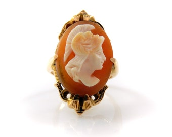 Cameo 14K Gold Vintage Ring - x3110