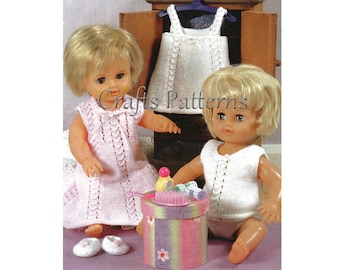 Doll clothes knitting pattern, knitting patterns, instant download