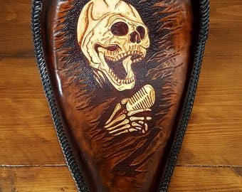 Custom Hand Crafted Leather Motorcycle Seat - Designed and Made for You and your Bike (example pictured)