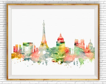 Paris France, Paris Decor, Paris Print, Paris Skyline, Paris Poster, Paris Art Print, Paris Wall Art, Office Poster, ArtPrintZone