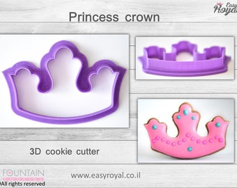 princess crown - 3D cookie cutter