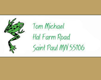 Climbing Green Tree Frog 150 Address Labels Personalized Think Spring!