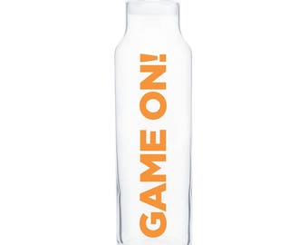 GAME ON! Glass Water Bottle