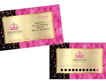 Paparazzi business card, loyalty card, business marketing, download, printable, affordable