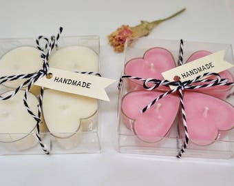 Tea light soy candles/ Tea light / Candles / Hand poured/ Scented/ Unscented /gift box / tag/ baker's twine