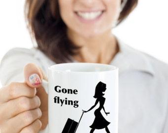 flight attendant mug, flight attendant coffee cup, stewardess mug, stewardess cup, flight attendant cofffee mug, funny stewardess cup,