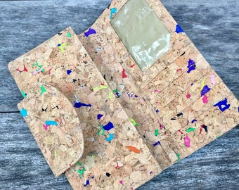 Fara Women's Cork Long Wallet - Vivid