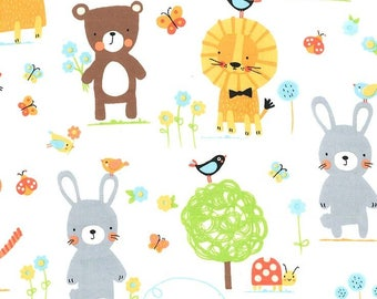 Flannel - Michael Miller - Flannel Nature Babies - 100% Cotton Flannel - 15 Yards Available