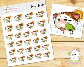 So Hot/  Sushi the Cat Emotions Planner Stickers