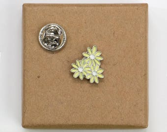 Free Shipping! Lime Floral Sunflower Enamel Pin.