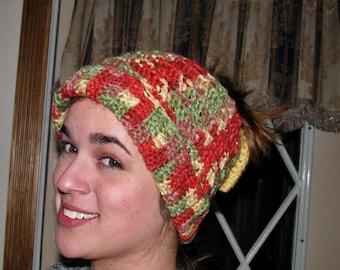 FREE SHIPPING!! Messy Bun Hat - Crocheted Ponytail Hat - Messy Bun Beanie - Winter Hat