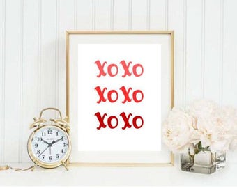 XOXO Ombre Printable 1