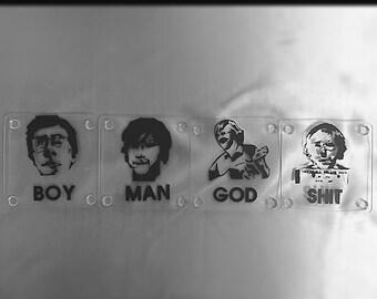 4 Phish Coasters. Boy. Man. God.