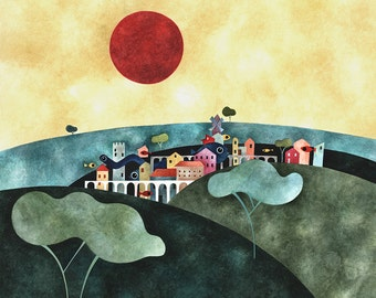 "Postcard ""The Village"""