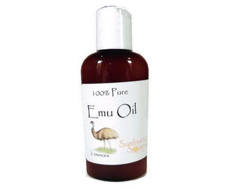 Emu Oil - 2 ounces - 100% pure - unscented - moisturizer - dry skin  - all natural - natural