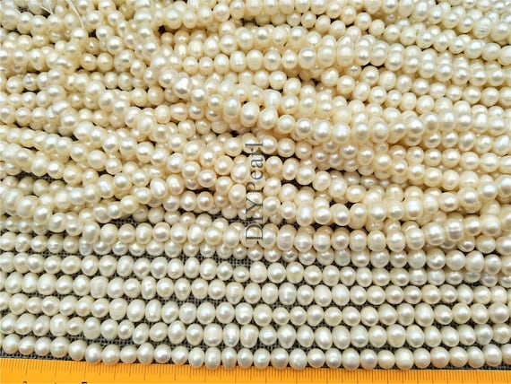 Pale Cream Freshwater Pearl Baroque Potato Beads 2-5mm 75 Pcs Art Hobby Crafts
