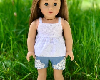 18 inch doll jeans shorts