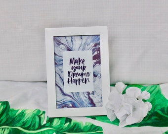 Make Your Dreams Happen Tumblr Marble Picture Frame