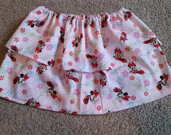 4T Minnie Mouse Double Ruffle Skirt