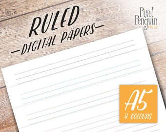 A5 Lined Paper, Printable Planner Refill Page, Student Planner, A5 Planner Insert Page, Filofax Insert A5, Agenda Insert, Kikki K Printable,