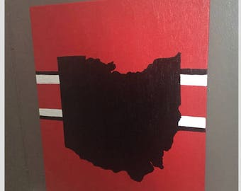 Ohio State Painted Canvas