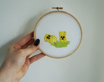 Embroidery: Nuclear Barrels