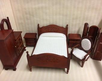 1:12 Scale dolls house miniature bedroom set 6pcs