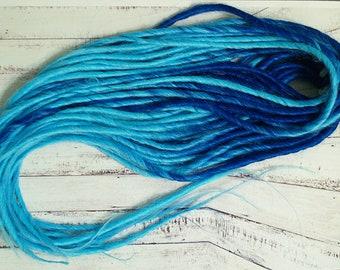 Synthetic Dreadlocks DE dreads extension dreadlocks Double Ended Synthetic dreads set blue ombre dreads custom De dreads Transitional dreads