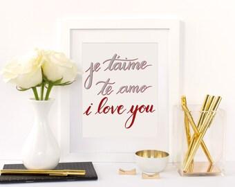 I Love You - Print
