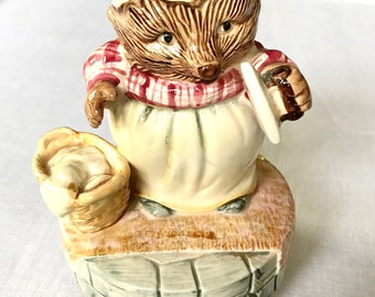 Beatrix Potter Miss Tiggy-Winkly Ceramic Music Box