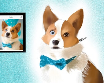 Digital Custom Pet Caricature