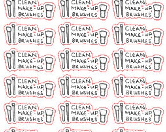 Clean Make-up Brushes // Planner // Erin Condren // Stickers // Personal Filofax